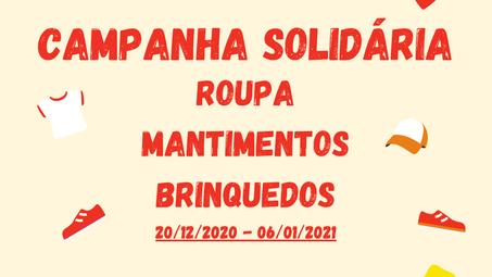Vamos ajudar: Campanha solidária pretende angariar roupa, mantimentos e brinquedos.