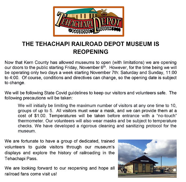 Reopening News Release Revised for 11-6.