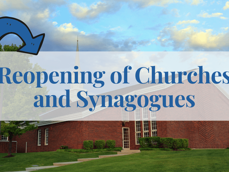 Reopening of Churches and Synagogues