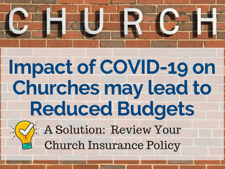 Impact of COVID-19 on Churches may lead to Reduced Budgets