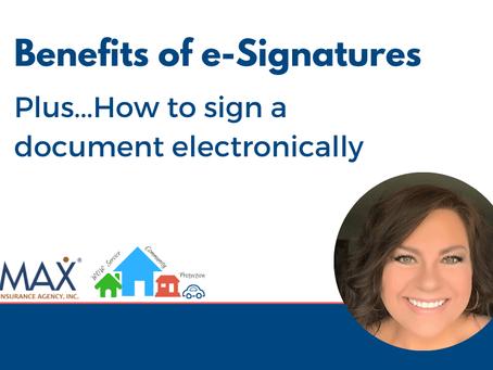 Benefits of e-Signatures