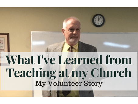 What I've Learned from Teaching at my Church
