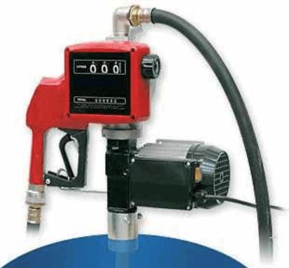 Diesel Polttoainepumppu tynnyrille 230V 45l/min