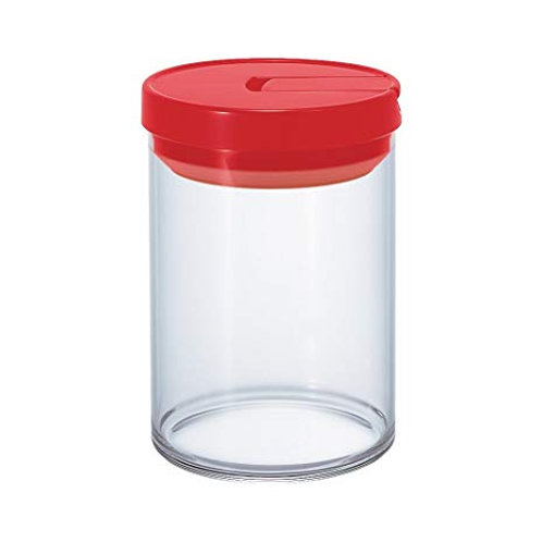 Hario Red Glass Canister 800ml