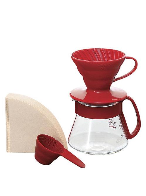 V60 Pour Over Kit Ceramic Red 01