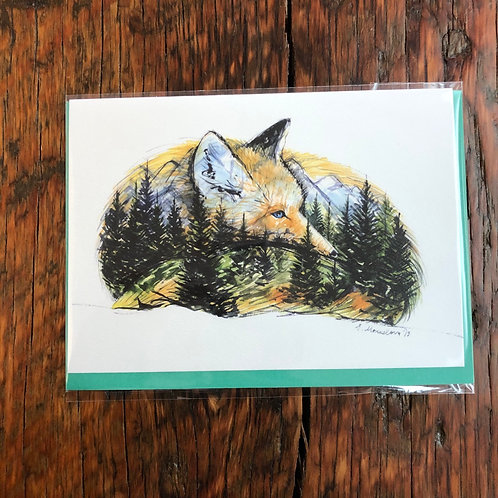 Undisturbed Fox Art Card