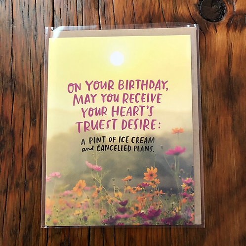 Birthdays Hearts Desire Card