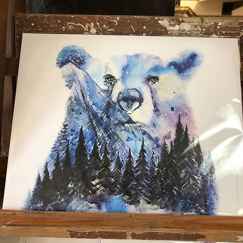 Aurora Bear Art Print