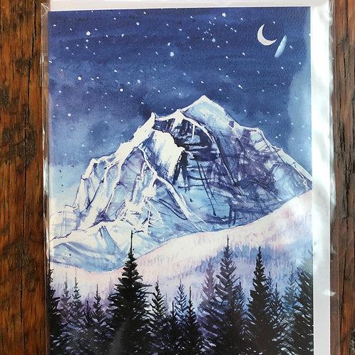 Night Edges / Banff Art Card