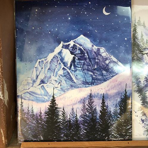 Night Edges / Banff Art Print