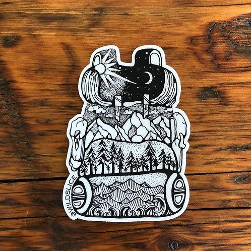 Adventure Backpack Sticker