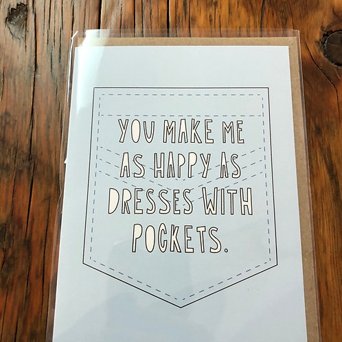 Happy as a Dress with Pockets Card