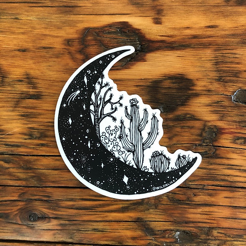 Desert Moon Sticker