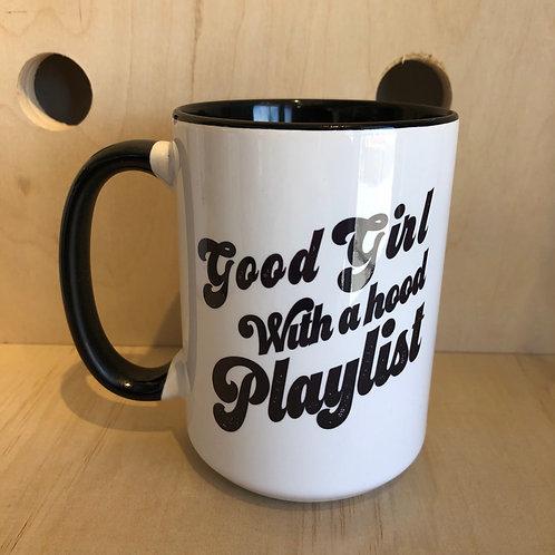 Good Girl with a Hood Playlist Mug