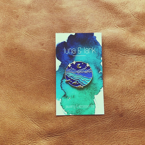 Moonlit Mountain Pin