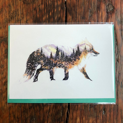 The Little Fox Art Card