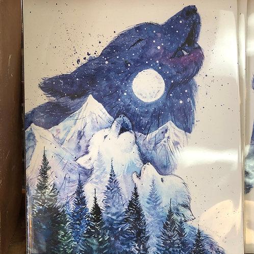Moon Song Wolves Art Print