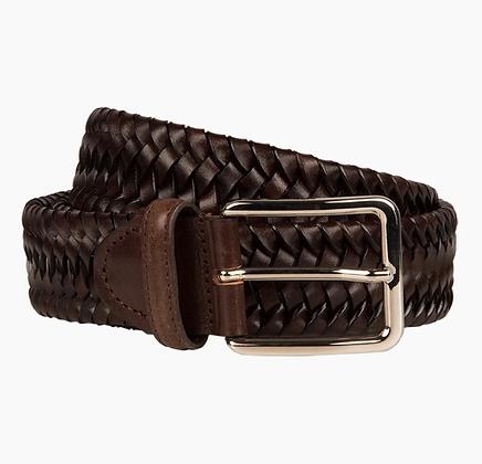 Italian chocolate woven belt