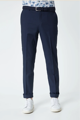 Navy Cotton Wool Stretch Slim Fit Clay Rondo Chinos