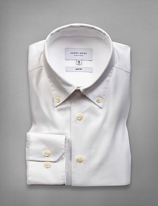 Hardy Amies White Business Shirt (Slim Fit)