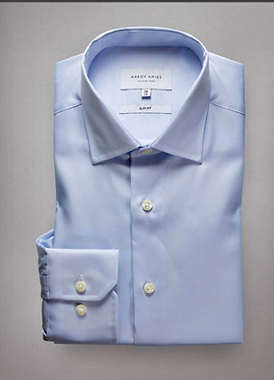 Hardy Amies Blue Business Shirt (Slim Fit)