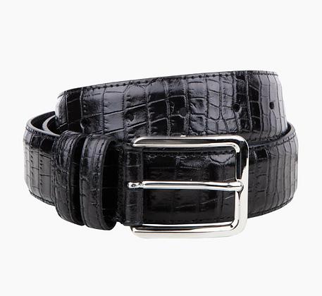 Italian mock-croc black belt