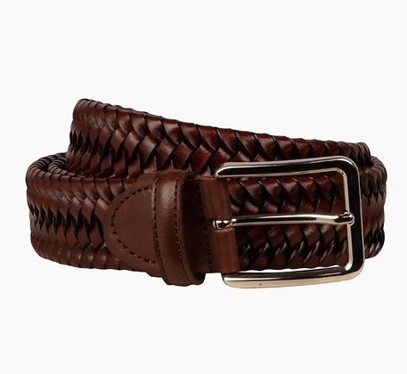 Italian mahogany woven belt