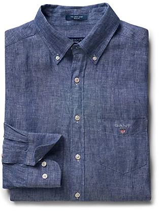 Gant College Blue Regular Linen Shirt