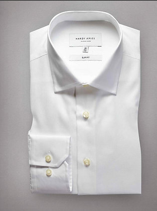 Hardy Amies White Business Shirt (Slim Fit)