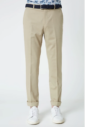 Stone Cotton Wool Stretch Slim Fit Clay Rondo Chinos