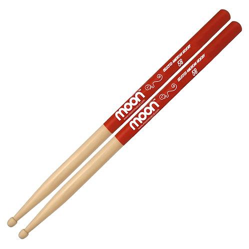 Baquetas 5B Grip Rojo  American Hickory® Moon