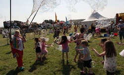 Bubble froth fun with Festival goers