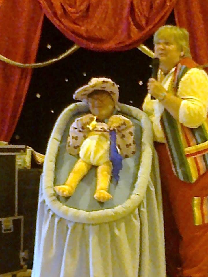 Christening show big baby
