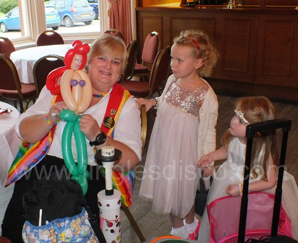 Balloon modelling at a Christening