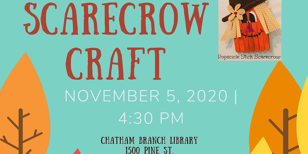 Play, Grow, Read Fall Scarecrow Craft