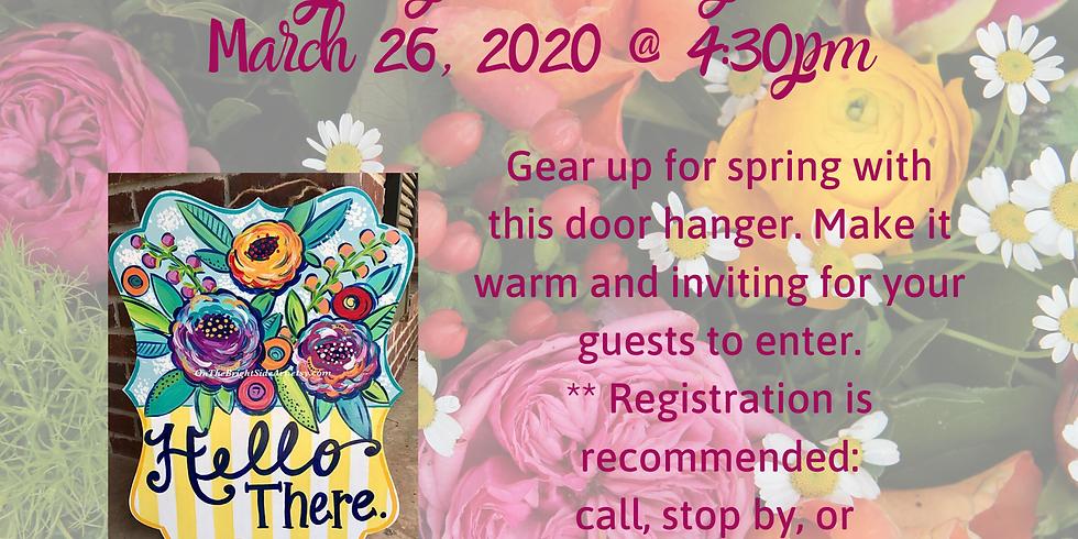 "Chatham Branch Play Grow Read & TnT Presents ""Spring Door hangers"""