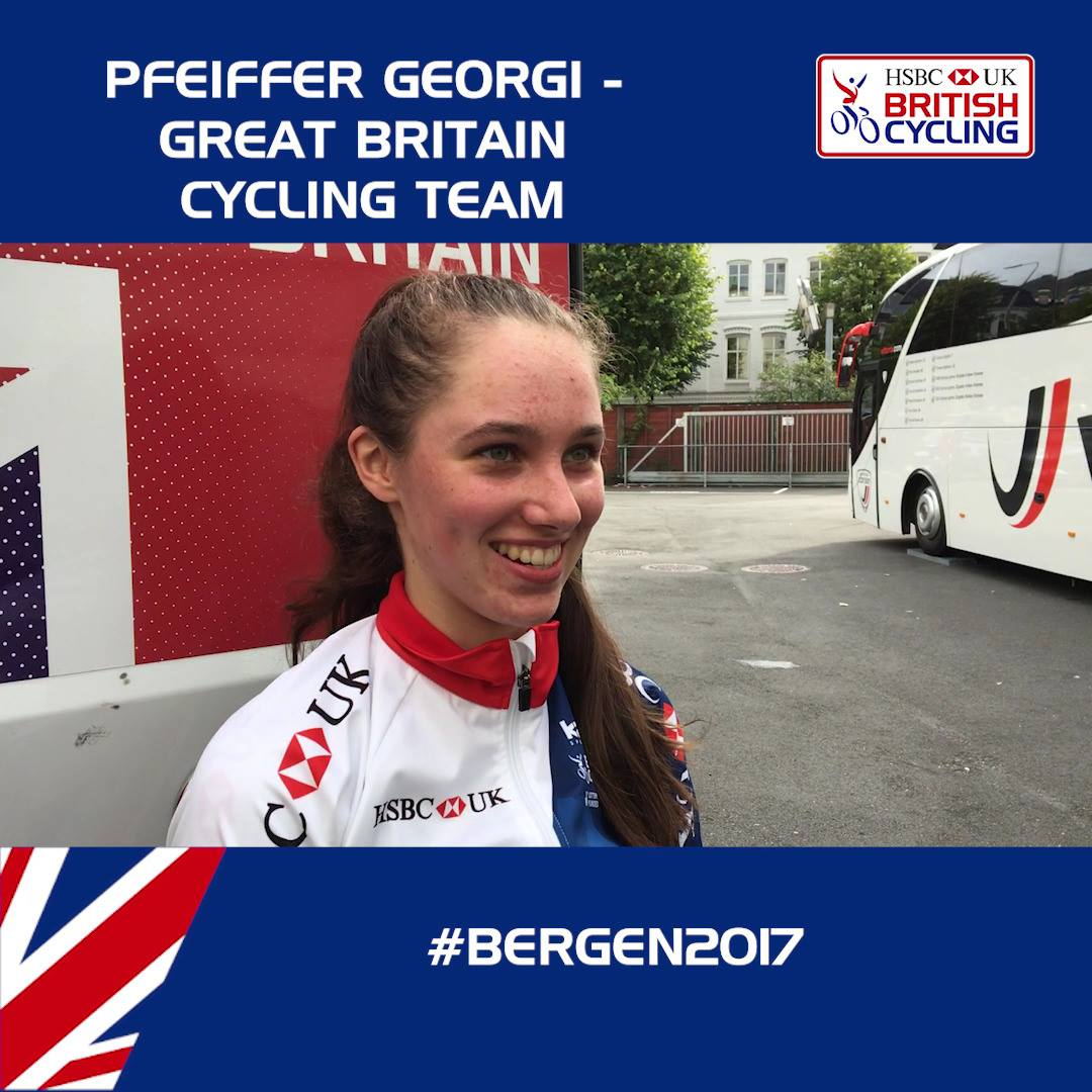 Georgi pleased with seventh in junior women's time trial
