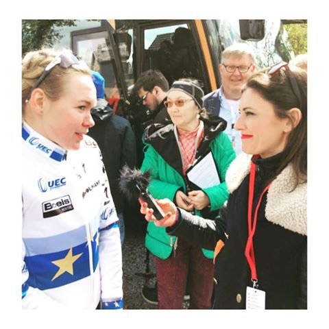 Orla interviewing Anna Van der Bregg