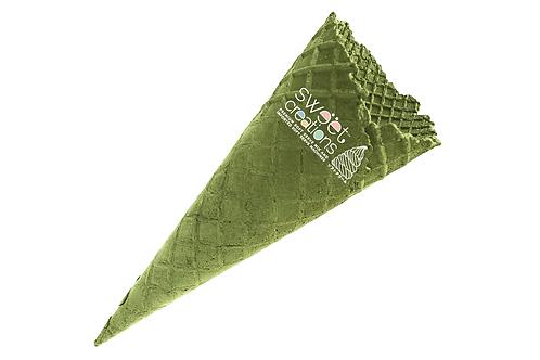 LARGE GREEN TEA WAFFLE CONE