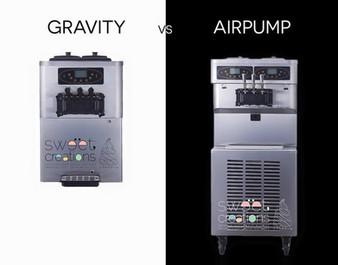 เครื่องทำไอศครีมแบบ Gravity vs Air Pump