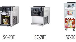 ความแตกต่างของเครื่องทำไอศครีม ซอฟเสริฟทั้ง 3 Series ของ Sweet Creations