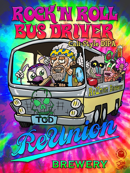 ROCK N ROLL BUS DRIVER T-SHIRT