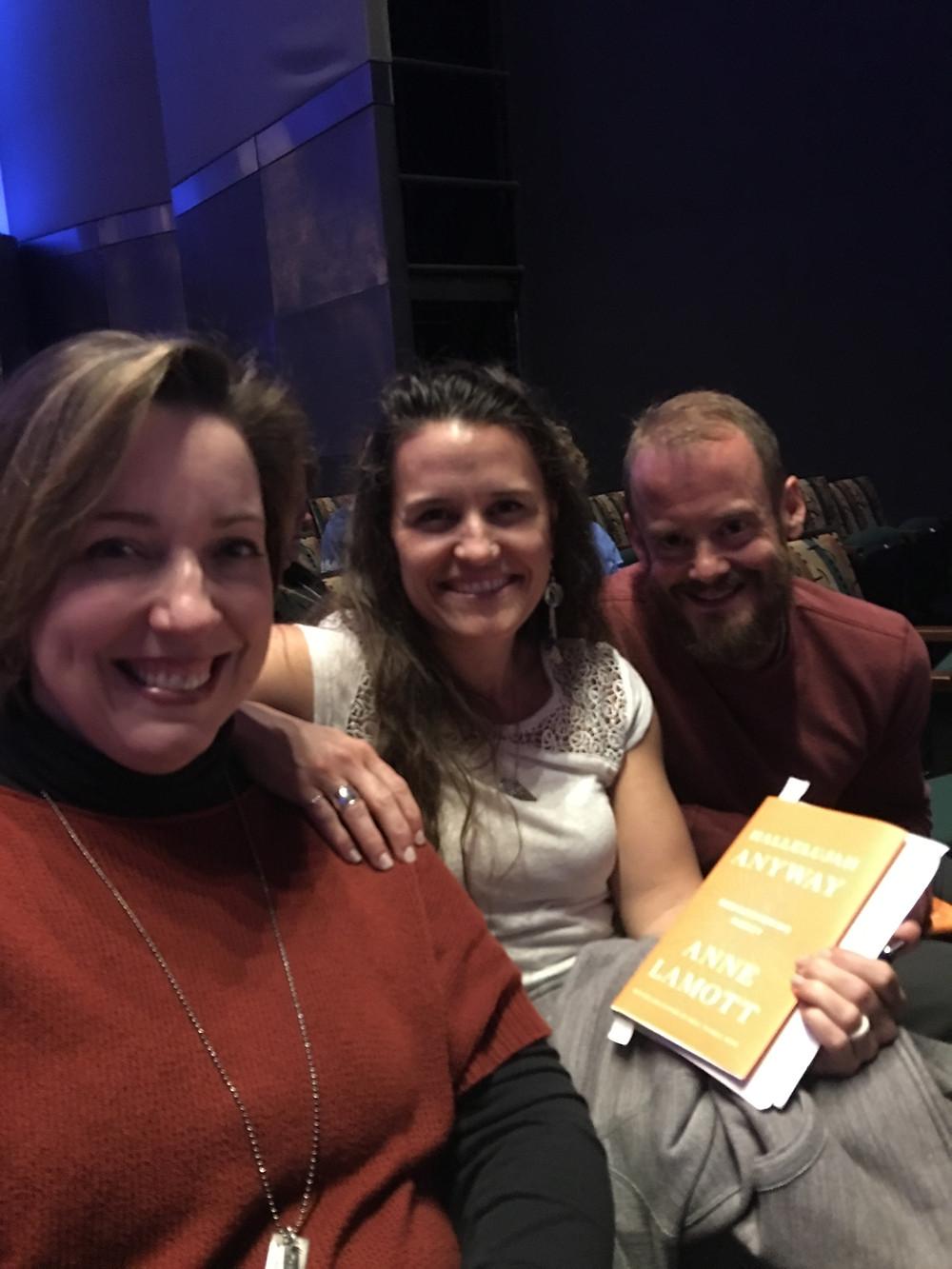 Elizabeth and Nate took me to hear Anne Lamott speak.
