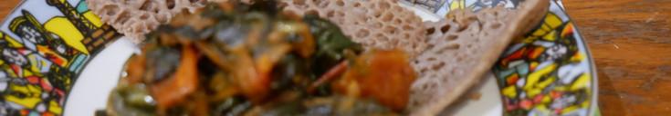 Taste of Africa with Ethiopian Injera & Gomen