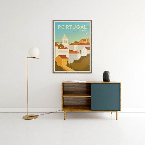 Portugal Vintage Poster