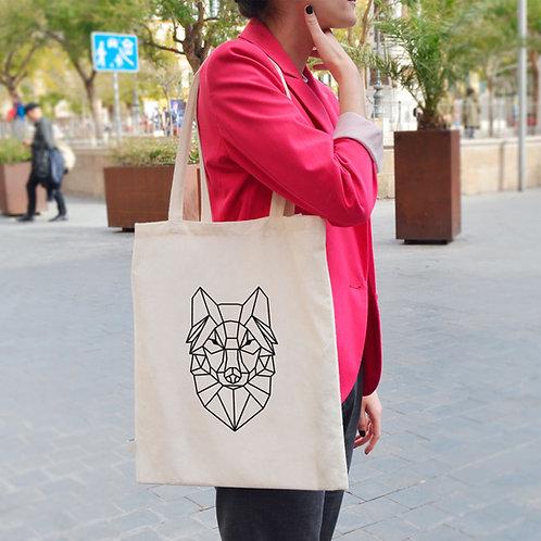 Geometric Wolf - Tote Bag