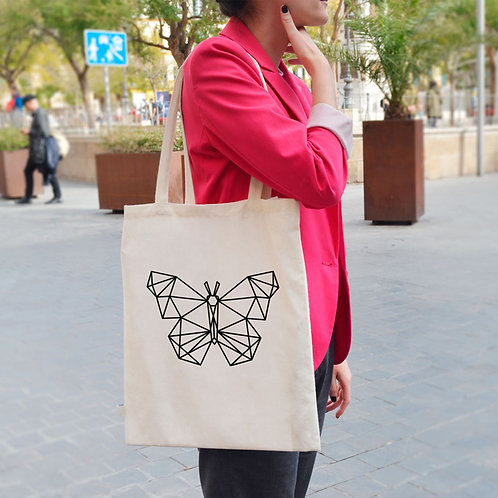 Geometric Butterfly - Tote Bag