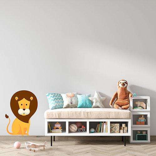 Leãozinho Ilustração Quarto Criança - Vinil Decorativo