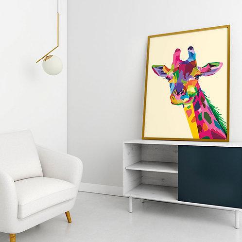 Girafa Pop Art