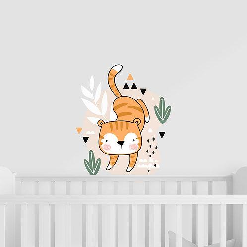Ilustração de Tigre para Quarto de Criança - Vinil Decorativo